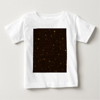 The Universe with Gold and Brown Stars Baby T-Shirt
