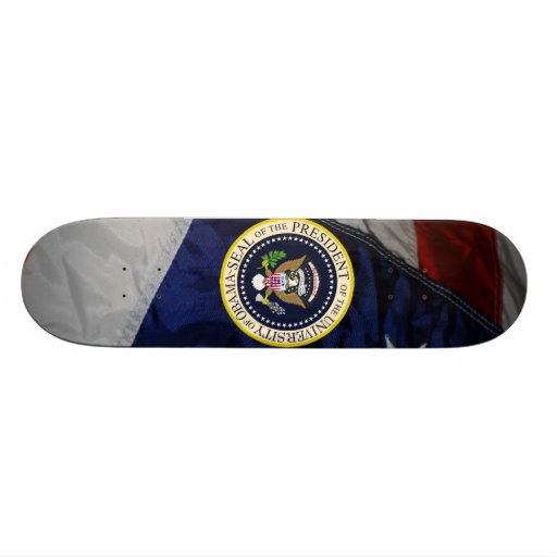 The University of Obama Official Skateboard.