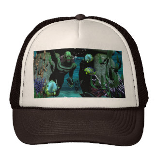 The unknown creature of the sea trucker hat