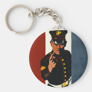 The US Marines Want You Basic Round Button Key Ring
