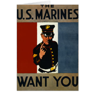The US Marines Want You Greeting Card