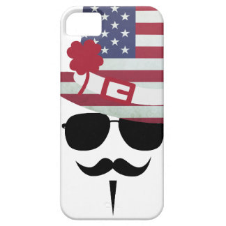 The USA fan with Mustache Case For The iPhone 5