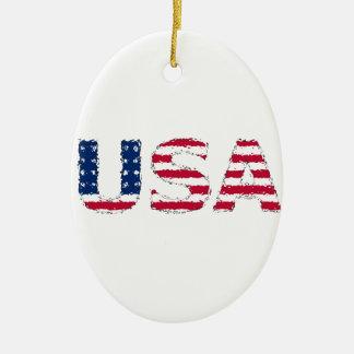 The USA flag Ornament