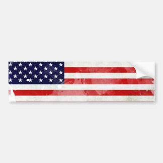 THE USA OLD FLAG BUMPER STICKER