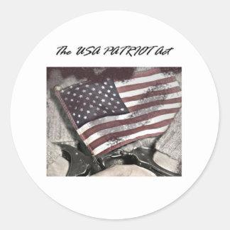 The USA Patriot Act Round Sticker