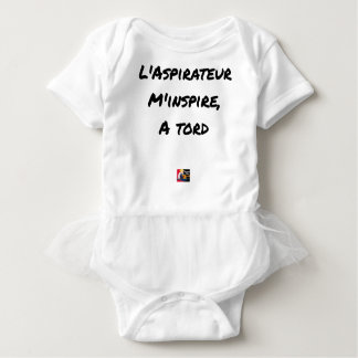 The VACUUM CLEANER INSPIRES to Me Wrongly - Word Baby Bodysuit