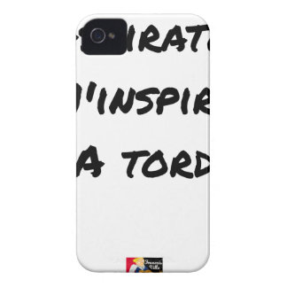 The VACUUM CLEANER INSPIRES to Me Wrongly - Word iPhone 4 Case-Mate Case
