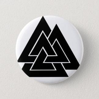 The Valknut 6 Cm Round Badge