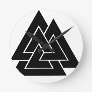 The Valknut Round Clock