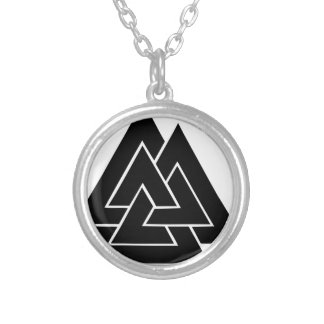 The Valknut Silver Plated Necklace