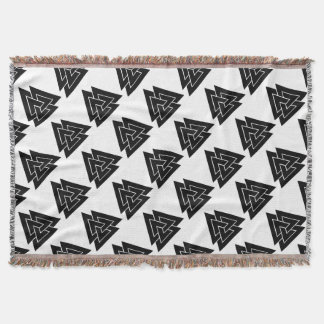 The Valknut Throw Blanket