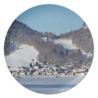 The valley of Joux in the Canton of Vaud Plate