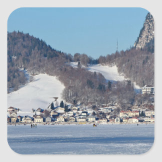 The valley of Joux in the Canton of Vaud Square Sticker