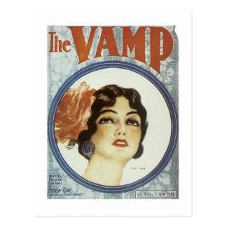 The Vamp 2 Vintage Songbook Cover Postcard