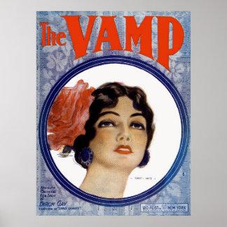 The VAMP Vintage Sheet Music Art By Henry Hutt Poster