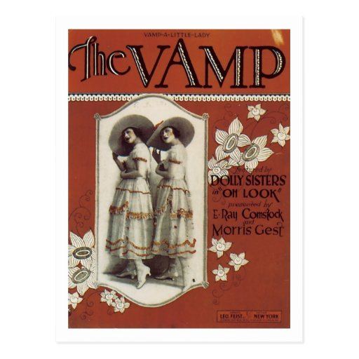 The Vamp Vintage Songbook Cover Post Cards
