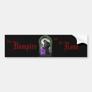 The Vampire and the rose Bumper Sticker