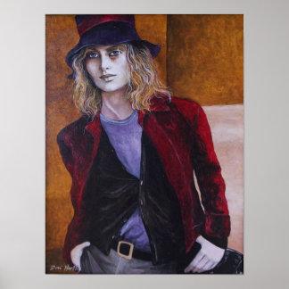 The Vampire - Original art by Dori Hart Poster