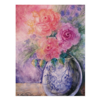 The Vase Of Roses Art Cards Postcard
