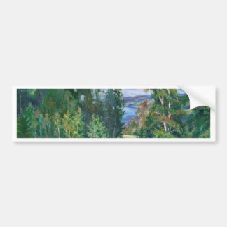The vastness of nature bumper sticker