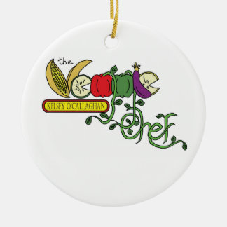 The Veggie Chef Ordament Ceramic Ornament