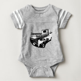 The vehicle which carries Japanese barrel mind, it Baby Bodysuit