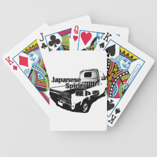 The vehicle which carries Japanese barrel mind, it Bicycle Playing Cards
