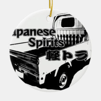 The vehicle which carries Japanese barrel mind, it Ceramic Ornament