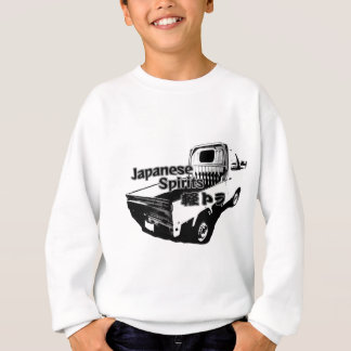 The vehicle which carries Japanese barrel mind, it Sweatshirt