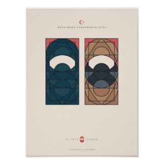 The Veil and the Beard - fundamentalist Muslims Poster