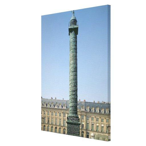 The Vendome Column, with bas-reliefs recording Nap Gallery Wrap Canvas