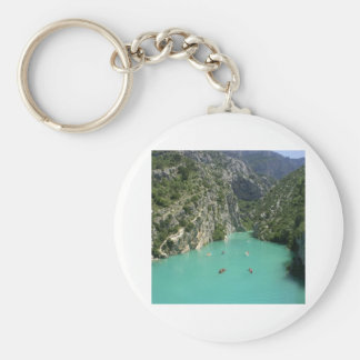 The Verdon Gorge Basic Round Button Key Ring