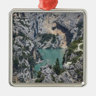 The Verdon Gorge, in south-eastern France Metal Ornament