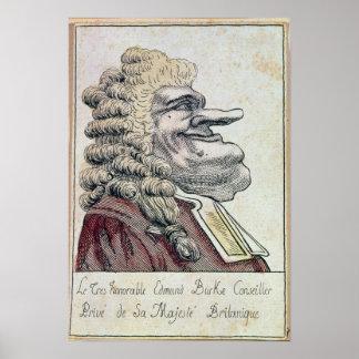 The very honourable Edmund Burke0 Poster