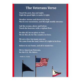 The Veterans Verse Postcard