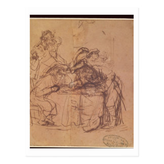 The Vices of the Prodigal Son (pen and ink on pape Postcard