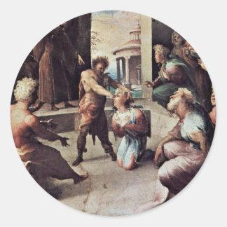 The Victim Of Seleukus Of Locri Round Sticker