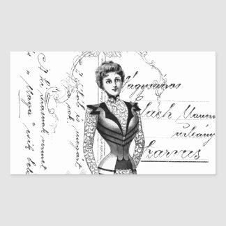 The Victorian Fashion Plate Rectangular Sticker