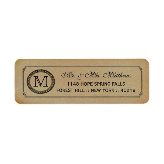 The Victorian Steampunk Wedding Collection Return Address Label