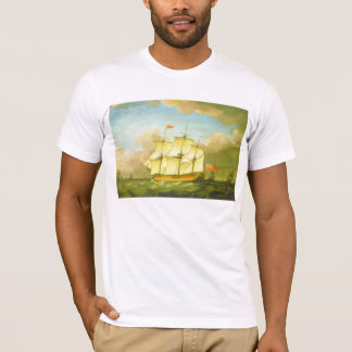 The Victory Leaving the Channel in 1793 by Swaine T-Shirt