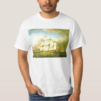The Victory Leaving the Channel in 1793 by Swaine Tee Shirts