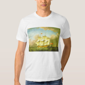 The Victory Leaving the Channel in 1793 by Swaine Tshirt