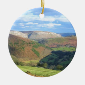 The View from Mt Snowden, Wales Round Ceramic Decoration