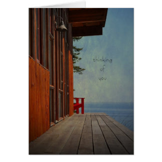 the view greeting card