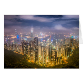 The view of Hong Kong from The Peak Greeting Card
