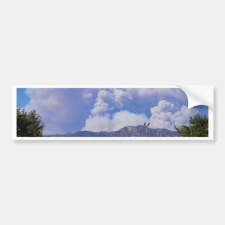 The View of the Hills & Smoke Clouds_ Bumper Sticker