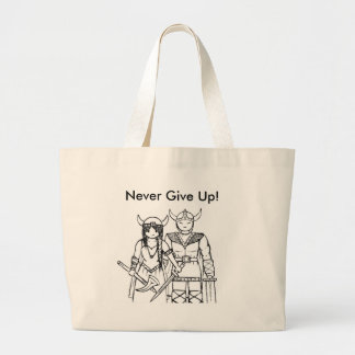 The Vikings - Never Give Up Canvas Bags