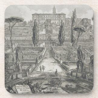 The Villa d'Este at Tivoli (engraving) Coaster