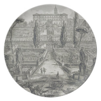 The Villa d'Este at Tivoli (engraving) Plate