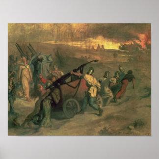 The Village Firemen, 1857 Poster